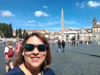 Selfie en la Piaza del Popolo