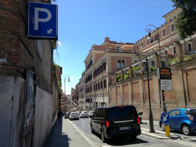Via di Porta Pinciana hacia Piaza di Spagna
