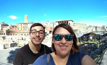 Con Chris cerca del Foro romano