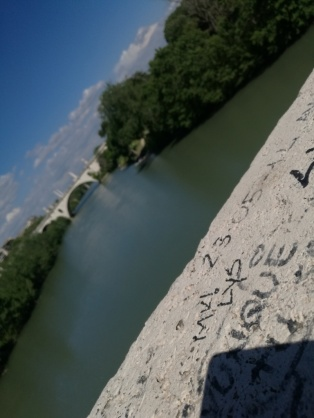 Llegando a Ponte Milvio