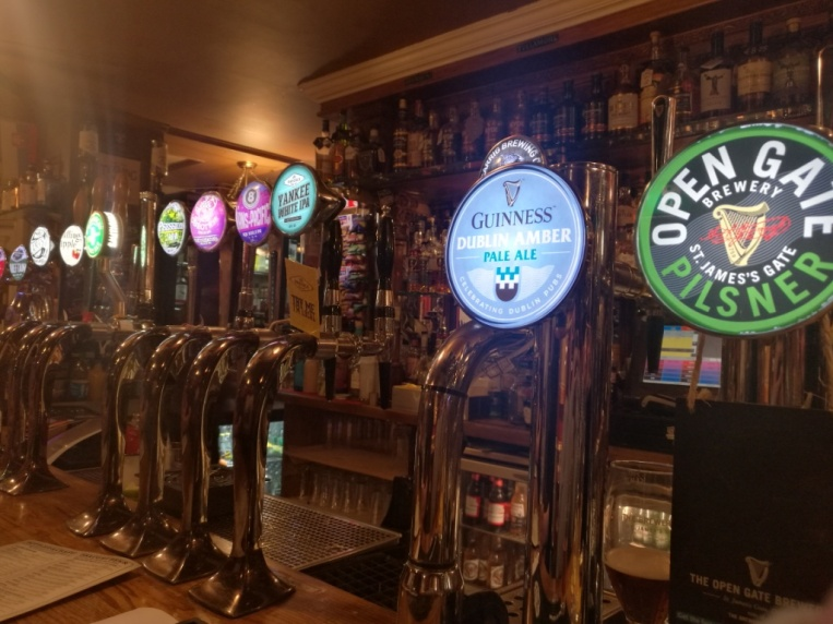 Taps for beers en Darkey Kellys