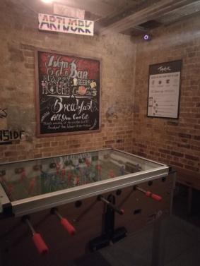 Foosball en el sótano